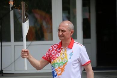 Анатолий Кебец пронес огонь II Европейских игр в г. Лиде