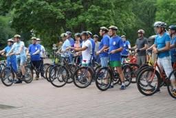 Руководство финансовой милиции приняло участие в велопробеге, приуроченном к 26-летию образования органов финансовых расследований