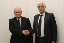В Минске состоялась встреча Председателя Комитета госконтроля Леонида Анфимова с Генеральным директором Европейского бюро по борьбе с мошенничеством Джованни Кесслером