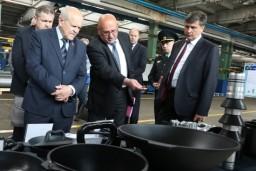 Председатель Комитета госконтроля проинспектировал работу промышленных предприятий Оршанского района