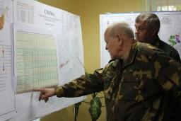5 сентября 2016 года Леонид Анфимов проинспектировал ход уборки пострадавших во время июльских ураганов лесов