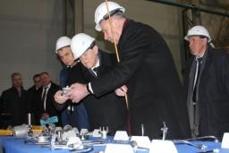 Леонид Анфимов посетил филиал Минского моторного завода в Столбцах, где состоялся пробный пуск нового участка фасонных отливок