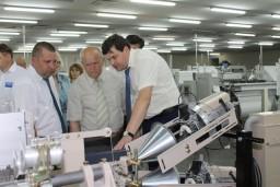 Леонид Анфимов посетил ОАО «Полоцк-Стекловолокно» и проинспектировал ход уборочной кампании в хозяйствах Полоцкого района