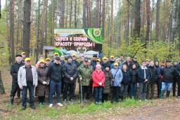Работники Комитета государственного контроля и управления Департамента финансовых расследований Гомельской области приняли участие в общереспубликанской акции «Чистый лес».